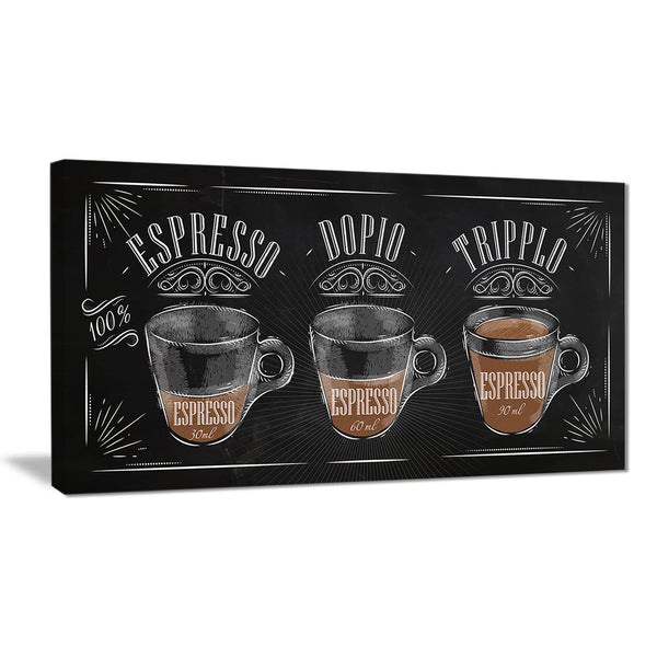 espresso kraf black poster canvas art print PT7537