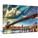 manhattan skyline at summer cityscape photo canvas print PT7552