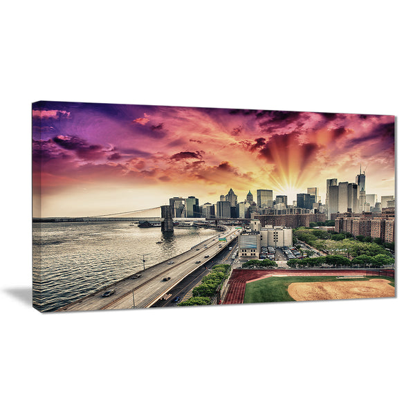 fdr drive and manhattan skyline cityscape photo canvas print PT7555
