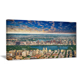 aerial view of central park landscape photo canvas print PT7561