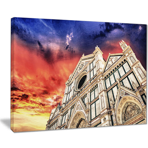 cathedral of santa croce in florence cityscape photo canvas print PT7562