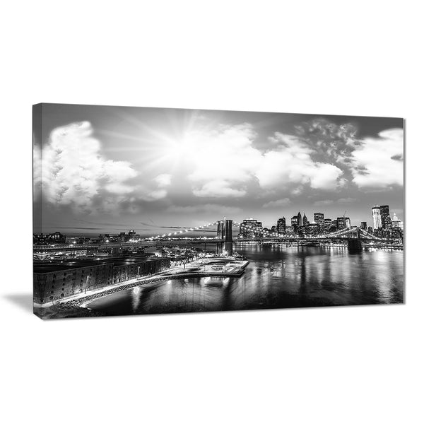amazing night in new york city cityscape photo canvas print PT7563