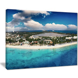 caribbean coast tropical panorama seascape photo canvas print PT7565