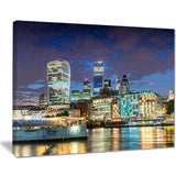 thames river at night cityscape photography canvas print PT7569