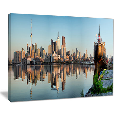 toronto city skyline panorama cityscape photography canvas print PT7581