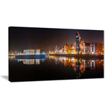 panorama of gdansk old town landscape photo canvas print PT7584