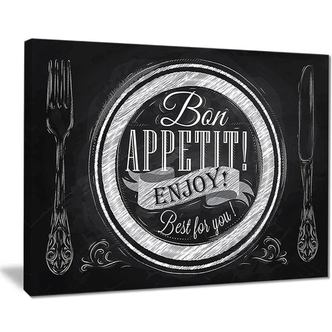 lettering on a plate digital art canvas art print PT7598