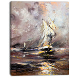vessel in stormy sea seascape painting canvas print PT7617