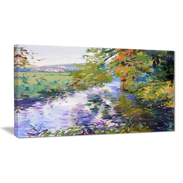 fall in amazing colors landscape painting canvas print PT7629