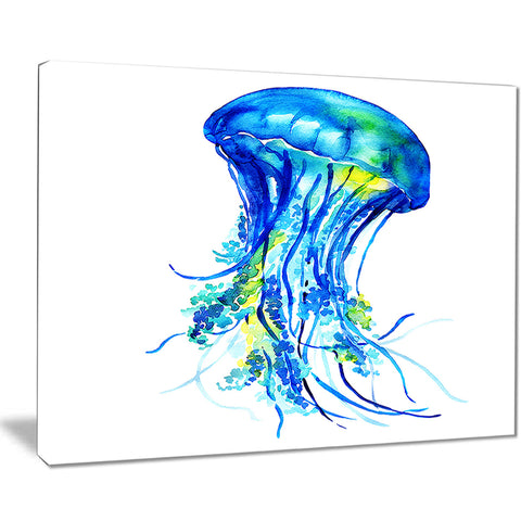 ocean water jellyfish animal digital art canvas print PT7631
