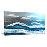 blue sky with clouds landscape canvas art print PT7641