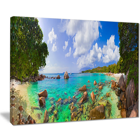 beach anse lazio at seychelles landscape photo canvas print PT7659