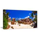 rocky tropical beach panorama landscape photo canvas print PT7660