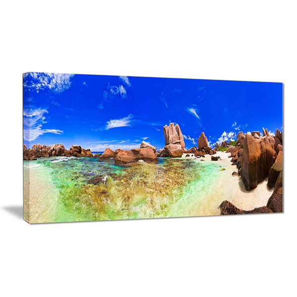 bright tropical beach panorama landscape photo canvas print PT7663