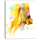 gold fish illustration animal painting canvas print PT7667