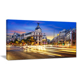 madrid city center cityscape photography canvas print PT7683
