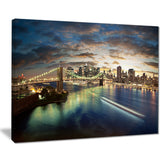 new york under cloudy skies cityscape photo canvas print PT7684