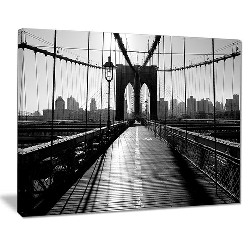 dark brooklyn bridge cityscape photo canvas print PT7686