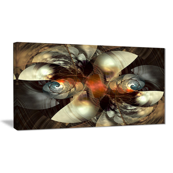 brown fractal artwork abstract digital art canvas print PT7692