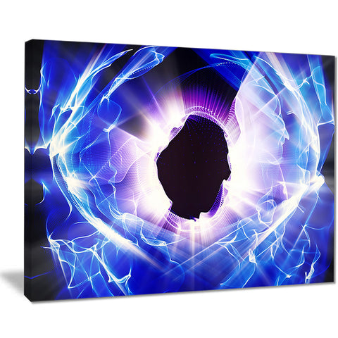 fractal blue light shine abstract digital art canvas print PT7694