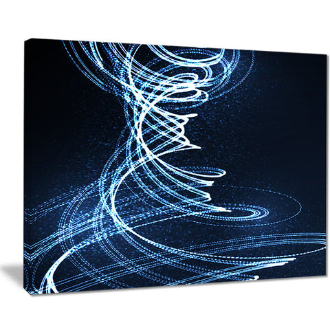 3d illuminated helix shapes abstract digital art canvas print PT7701