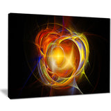 supernova explosion in black digital art canvas print PT7705