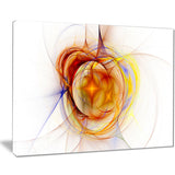 supernova explosion in white digital art canvas print PT7711