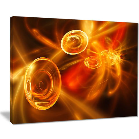 yellow fractal desktop wallpaper abstract digital art canvas print PT7721