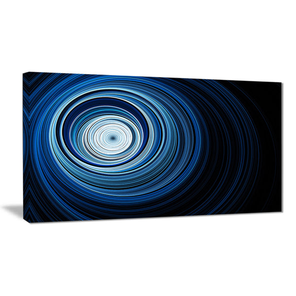 endless tunnel light blue ripples abstract digital art canvas print PT7724