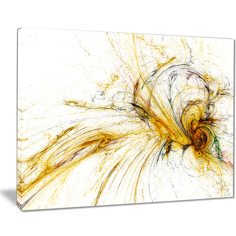 yellow spiral galaxy abstract digital art canvas print PT7727