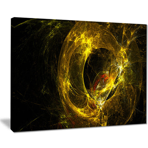 far spherical galaxy golden abstract digital art canvas print PT7728