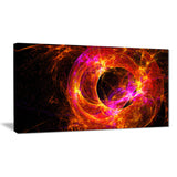 far spherical galaxy red abstract digital art canvas print PT7730