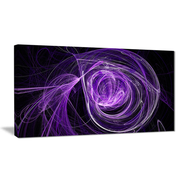 purple ball of yarn abstract digital art canvas print PT7736