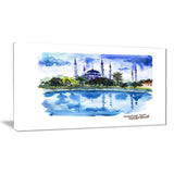istanbul hand drawn illustration cityscape painting canvas print PT7754