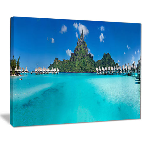 bora bora panorama beach seascape canvas art print PT7771