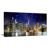 night colors over brooklyn bridge cityscape photo canvas print PT7776