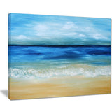 warm tropical sea and beach seascape painting canvas print PT7781