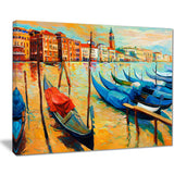 colorful venice landscape painting canvas print PT7785