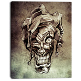 fantasy clown joker tattoo sketch digital art canvas print PT7822