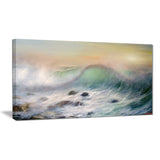 mountains of waves seascape painting canvas print PT7850