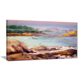 tranquil watercolor waters seascape painting canvas print PT7851