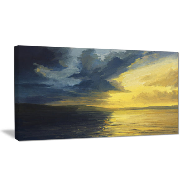 sunset of light and shadows landscape painting canvas print PT7852