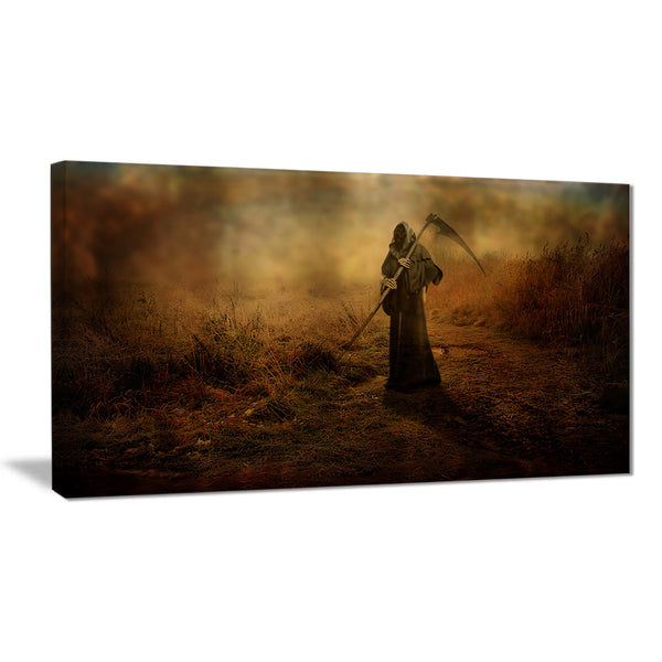 unexpected death abstract digital art canvas print PT7863