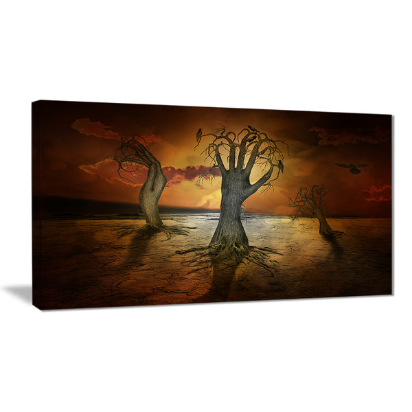 storage trees abstract digital art canvas print PT7868