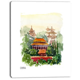 china vector illustration cityscape canvas art print PT7872