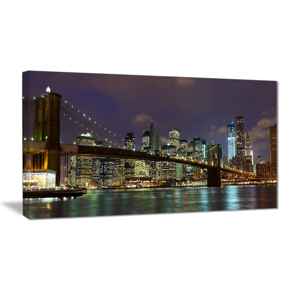 brooklyn bridge panoramic view cityscape photo canvas print PT7888
