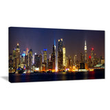 new york skyline at night cityscape photo canvas print PT7890