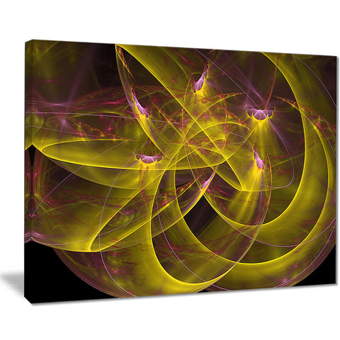 yellow fractal flames abstract digital art canvas print PT7906