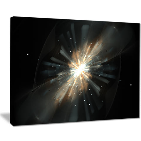 fractal star galaxy abstract digital art canvas print PT7908