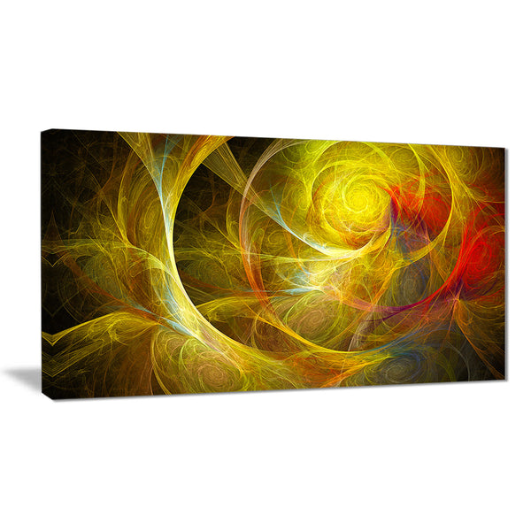 bright yellow stormy sky abstract digital art canvas print PT7909